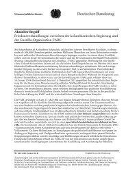 Friedensverhandlungen zwischen der kolumbianischen Regierung ...