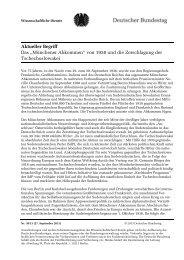 Münchener Abkommen - Deutscher Bundestag