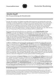 Die Neuausrichtung der Bundeswehr - Deutscher Bundestag
