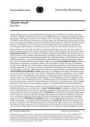 Aktueller Begriff: Big Data (pdf) - Deutscher Bundestag