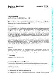 Gesetztentwurf (BT/Drs. 18/476) - Deutscher Bundestag