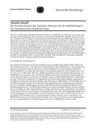 Die Friedensmission der Vereinten Nationen für die Stabilisierung in ...