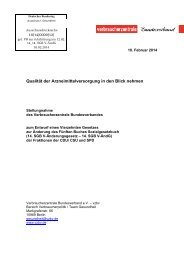 Verbraucherzentrale Bundesverband e.V. (vzbv) - Deutscher ...