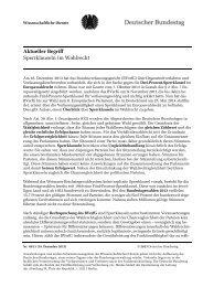 Aktueller Begriff Sperrklauseln im Wahlrecht - Deutscher Bundestag