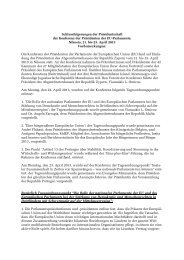 Schlussfolgerungen der Konferenz der Parlamentspräsidenten der