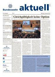 Gleichgültigkeit keine Option - Bundeswehr