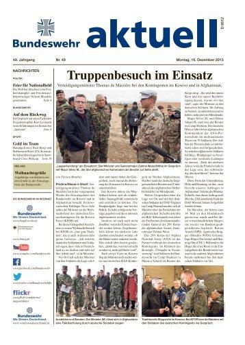 aktuell Nr. 49 vom 16.12.2013 ( PDF , 2,8 MB) - Bundeswehr