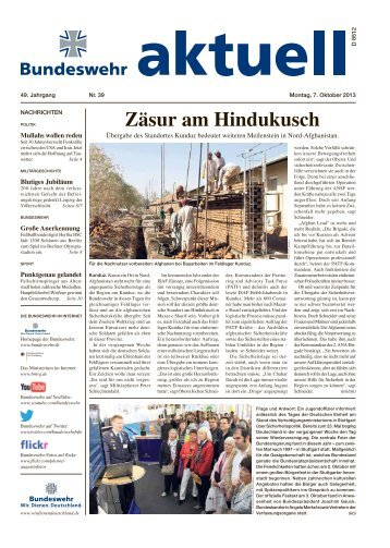 aktuell Nr. 39 vom 07.10.2013 ( PDF , 1,7 MB) - Bundeswehr