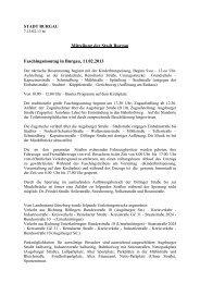 Mitteilung der Stadt Burgau Faschingsmontag in Burgau, 11.02.2013