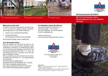 Mit dem Hochwasser leben – Ideenwettbewerb für eine effektive ...
