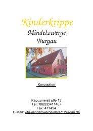 Kinderkrippe Konzeption - Stadt Burgau