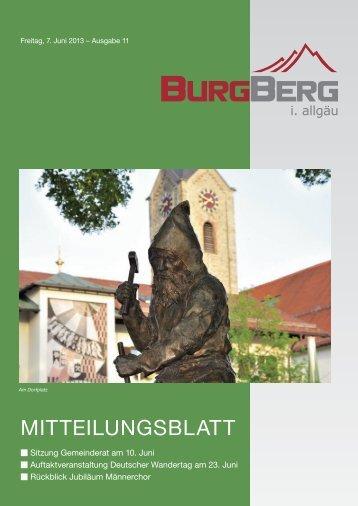 Burgberger Mitteilungsblatt Nr. 11/2013