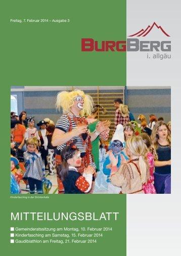 Burgberger Mitteilungsblatt Nr. 03/2014