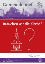 Brauchen wir die Kirche? - Evangelische Burgkirchengemeinde ...