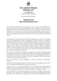 Über die Freiheit der Kunst - Burgtheater