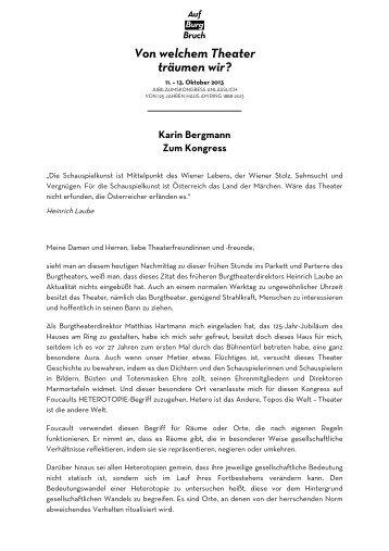 Zum Kongress - Burgtheater