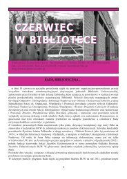 Czerwiec w Bibliotece (2013) - Biblioteka Uniwersytecka w Warszawie