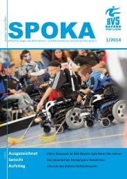 Der neue SPOKA Nr. 1 / 2014 - BVS - Bayern eV