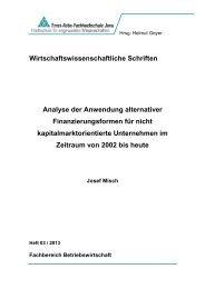 Wirtschaftswissenschaftliche Schriften - Fachbereich ...