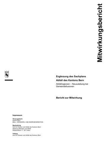 Bericht Mitwirkungsverfahren Ergänzung Sachplan ... - Bau-, Verkehrs