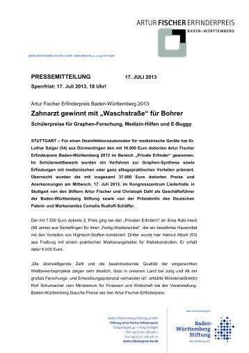 """Zahnarzt gewinnt mit """"Waschstraße"""" für Bohrer - Baden ..."""