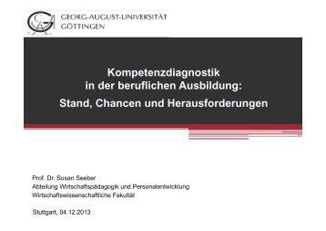 Vortrag Prof. Dr. Susan Seeber 04.12.2013 - Baden-Württemberg ...