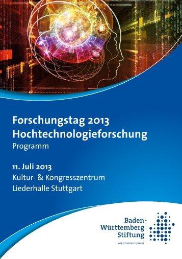 Forschungstag 2013 Hochtechnologieforschung - Baden ...