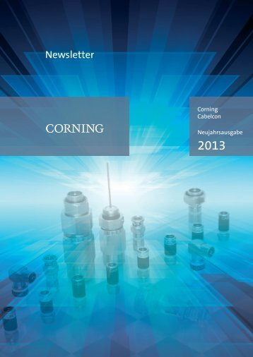 Newsletter - Corning Cabelcon Connectors