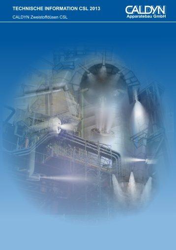 Technisches Datenblatt CALDYN Zweistoffdüsen CSL