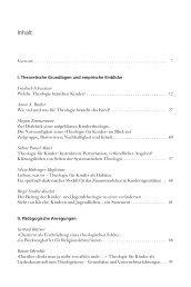 Inhaltsverzeichnis - Calwer