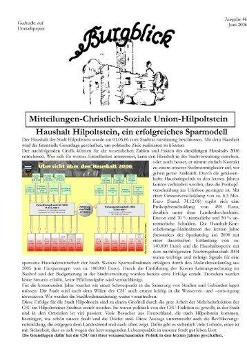 Juni 2006 - CSU Hilpoltstein-Meckenhausen