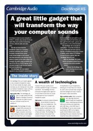 DacMagic XS Top Tips English single pages - Cambridge Audio