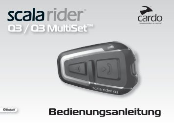 scala rider Q3 / Q3 MultiSet™ - Cardo Systems, Inc