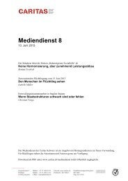 Mediendienst 4 - CARITAS - Schweiz