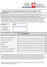 "Förderantrag für den Ehrenamtsfonds ""Sozial couragiert ... - Caritas"
