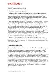 Was passiert, wenn nichts passiert - CARITAS - Schweiz