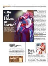Kultur und Bildung zum Spartarif - CARITAS - Schweiz