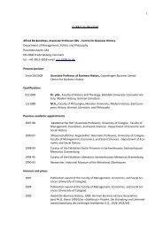 Download long CV as PDF - CBS