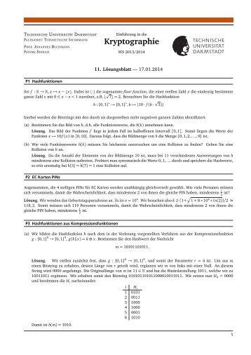 Lösung 11 - CDC - Technische Universität Darmstadt