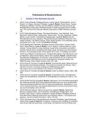 Publications & Disseminations - CBS