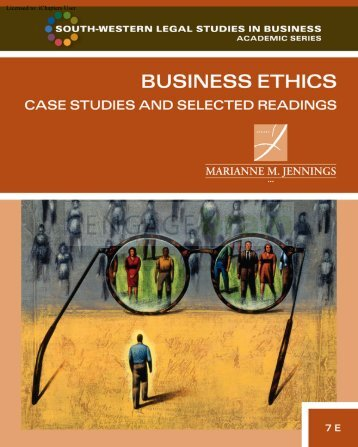 Business Ethics: Case Studies and Selected Readings, 7th ed.