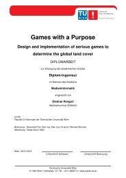 Games with a Purpose - Institut für Computergraphik und Algorithmen