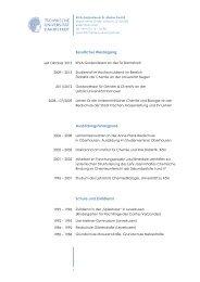 Weitere Information zu Vita, Forschung und Lehre - Technische ...