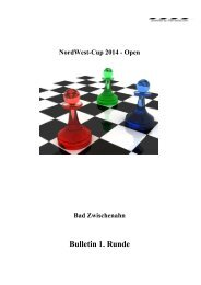 Bulletin 1. Runde - ChessOrg