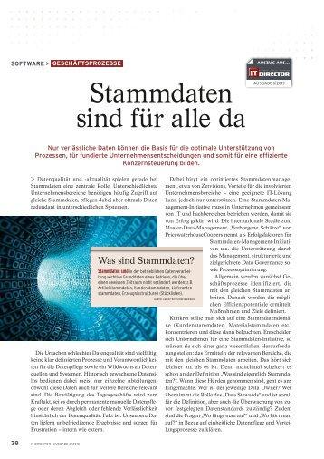 Stammdaten sind für alle da - CIO.de