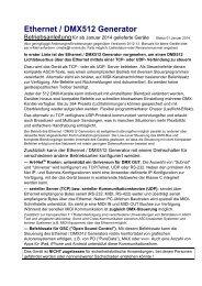 Ethernet / DMX512 Generator - Cinetix Medien und Interface GmbH