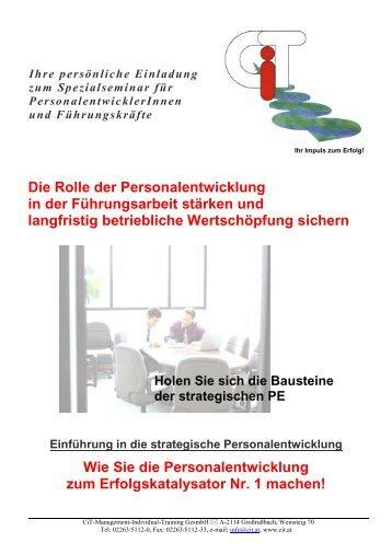 12. bis 13. Februar 2014 in Wien - CiT-Management-Individual ...