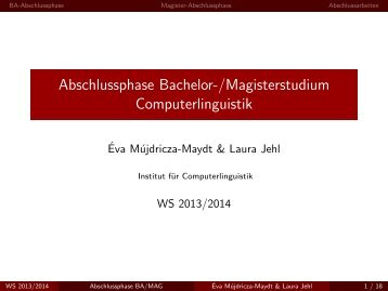 Folien - Institut für Computerlinguistik