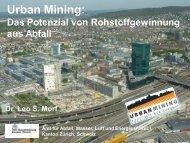 Urban Mining: Das Potenzial von Rohstoffgewinnung ... - Cleantec City