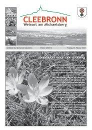 Amtsblatt der Gemeinde Cleebronn Woche 07/2013 Freitag, 15 ...